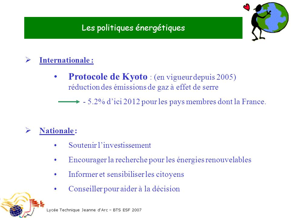 Les politiques énergétiques