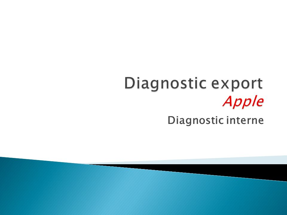 Diagnostic export Apple