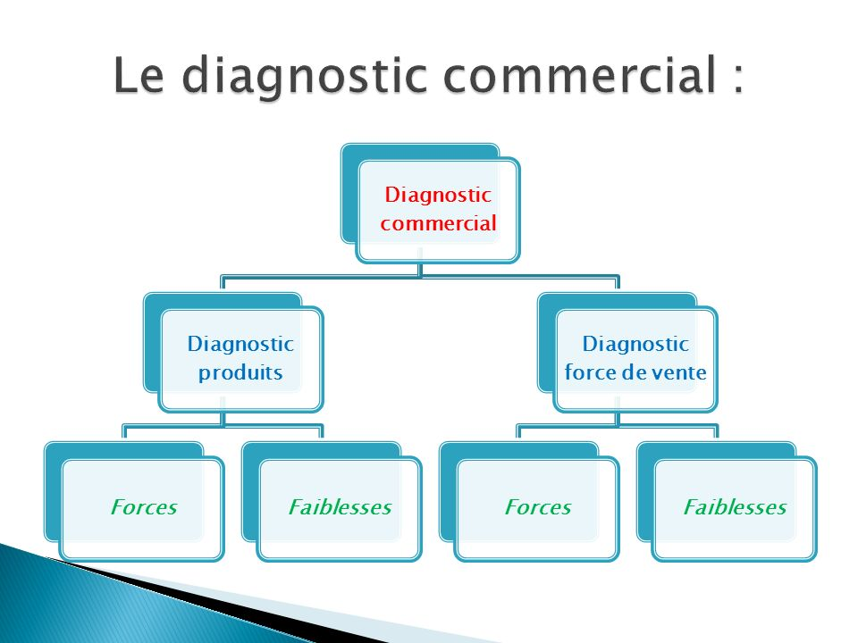 Le diagnostic commercial :
