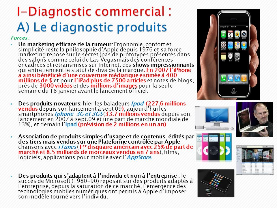 I-Diagnostic commercial : A) Le diagnostic produits