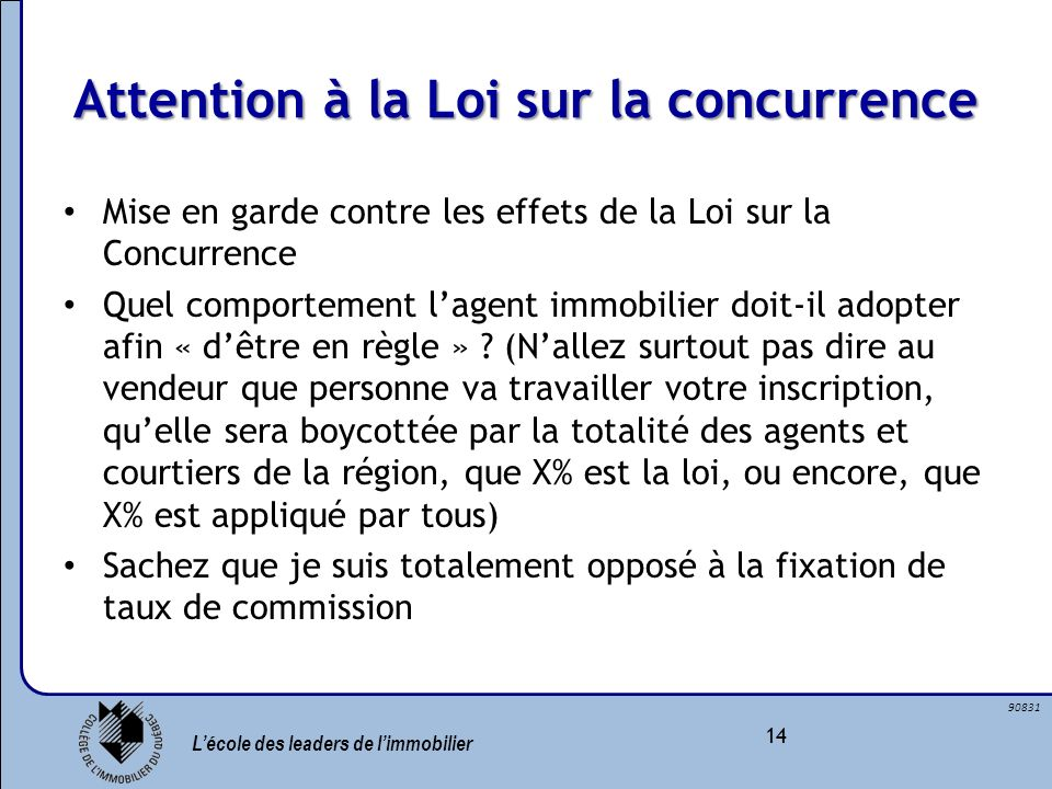Attention à la Loi sur la concurrence