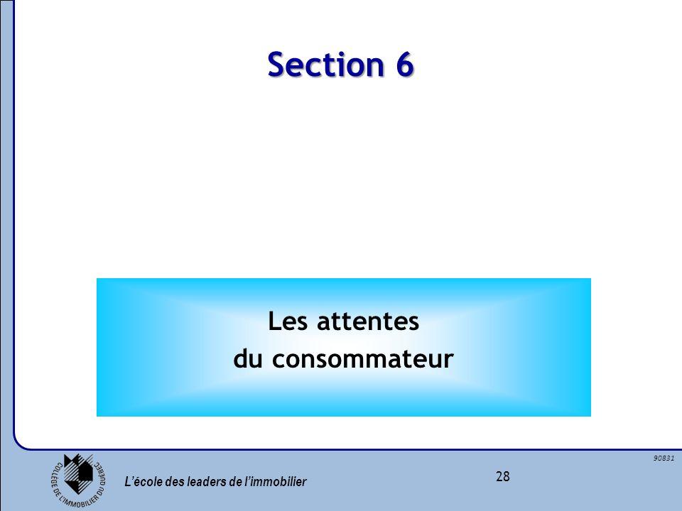Section 6 Les attentes du consommateur