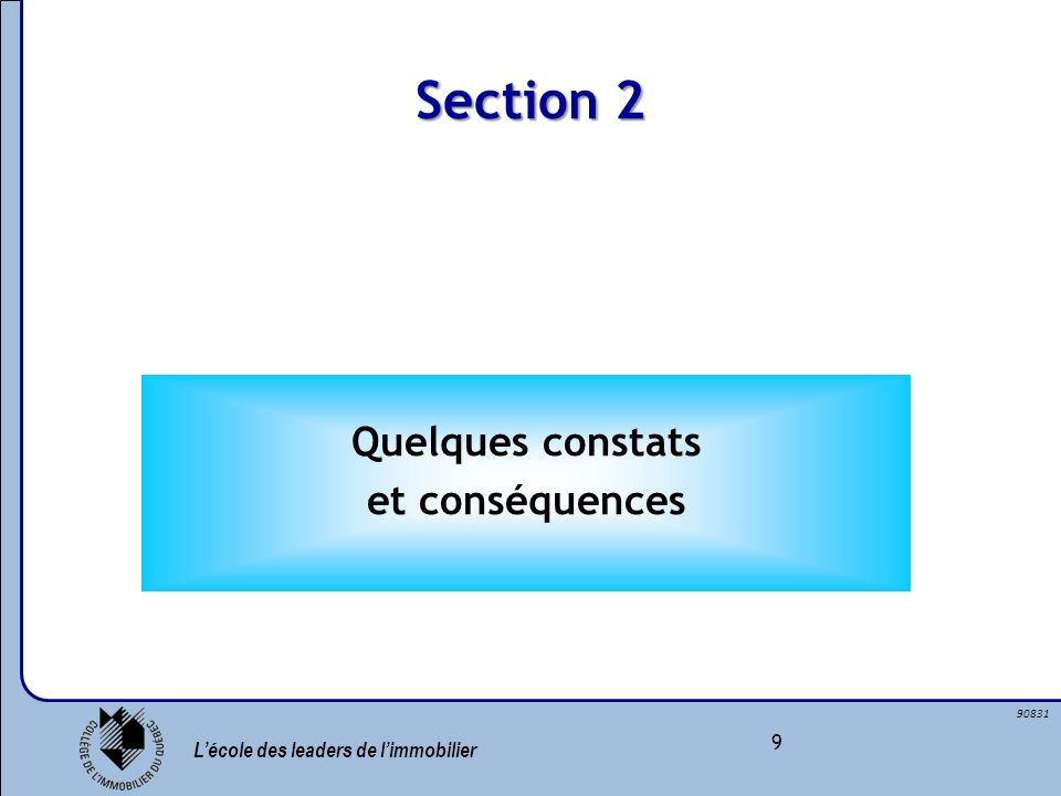 Section 2 Quelques constats et conséquences