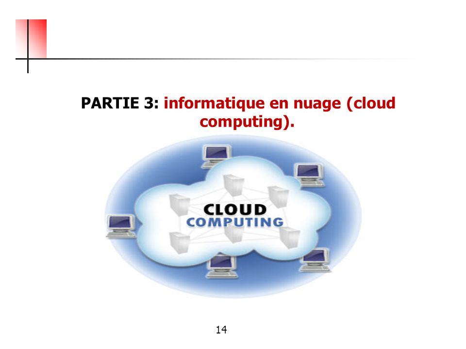 PARTIE 3: informatique en nuage (cloud computing).