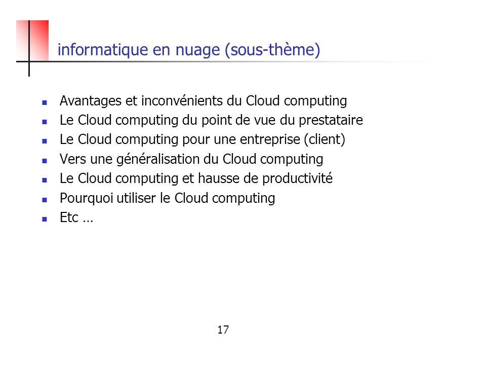 informatique en nuage (sous-thème)