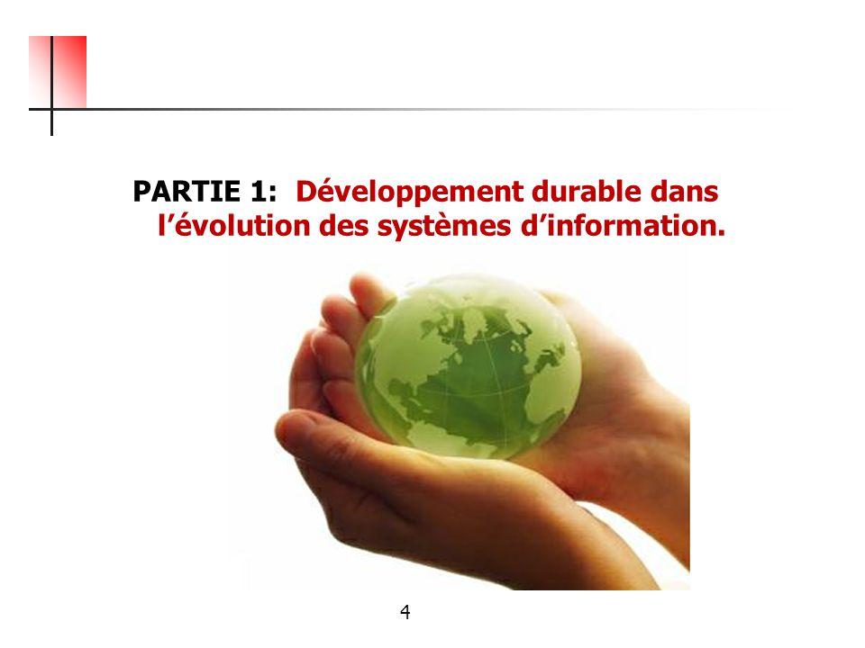 PARTIE 1: Développement durable dans l'évolution des systèmes d'information.