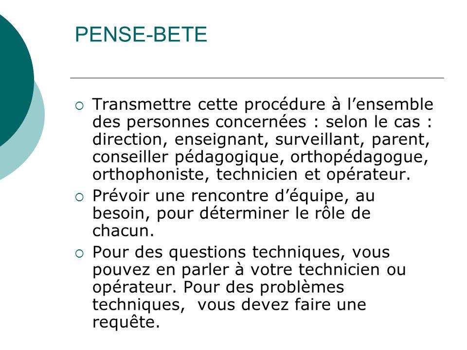 PENSE-BETE
