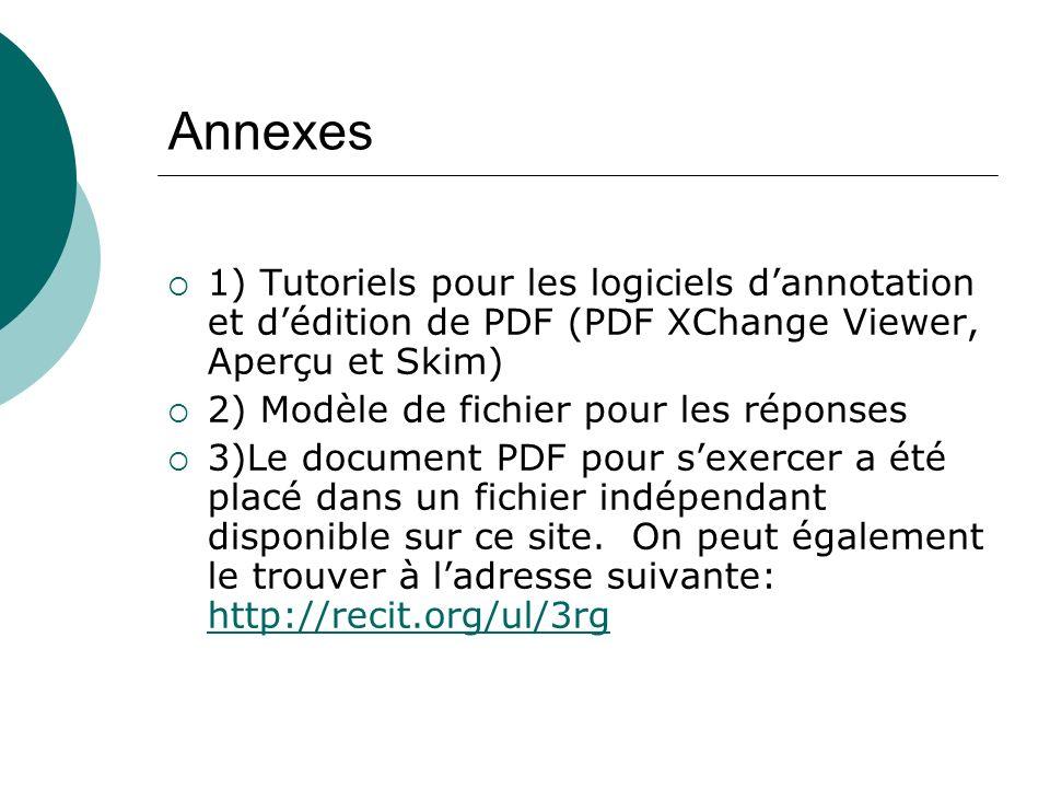Annexes 1) Tutoriels pour les logiciels d'annotation et d'édition de PDF (PDF XChange Viewer, Aperçu et Skim)