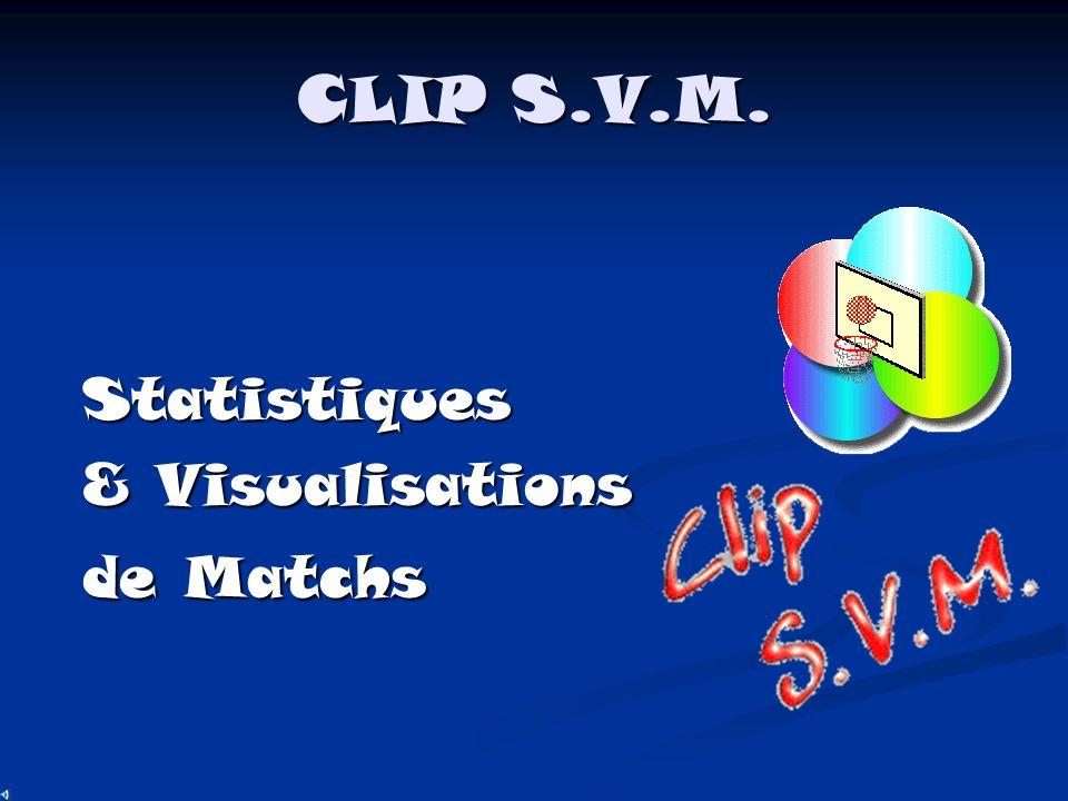 CLIP S.V.M. Statistiques & Visualisations de Matchs