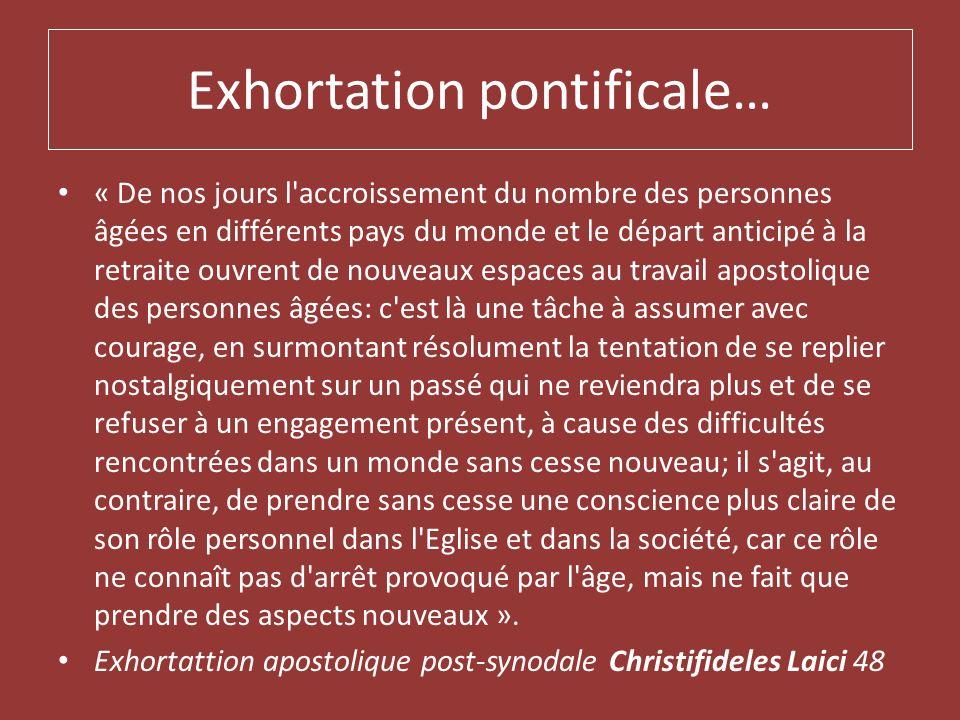 Exhortation pontificale…