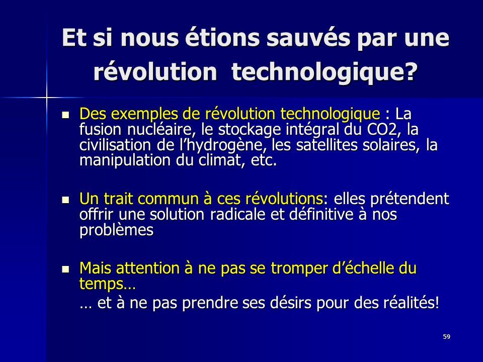 Et si nous étions sauvés par une révolution technologique