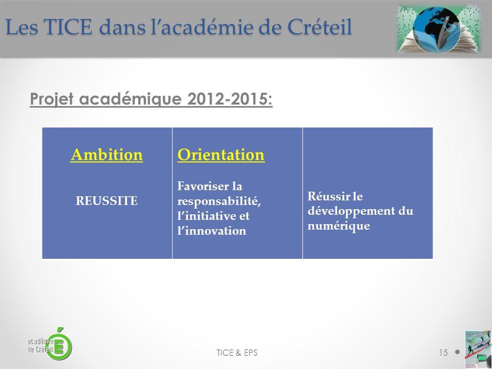 Les TICE dans l'académie de Créteil