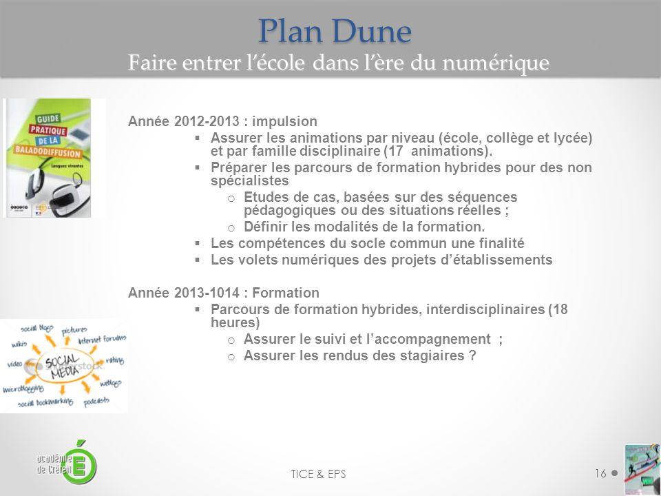 Plan Dune Faire entrer l'école dans l'ère du numérique