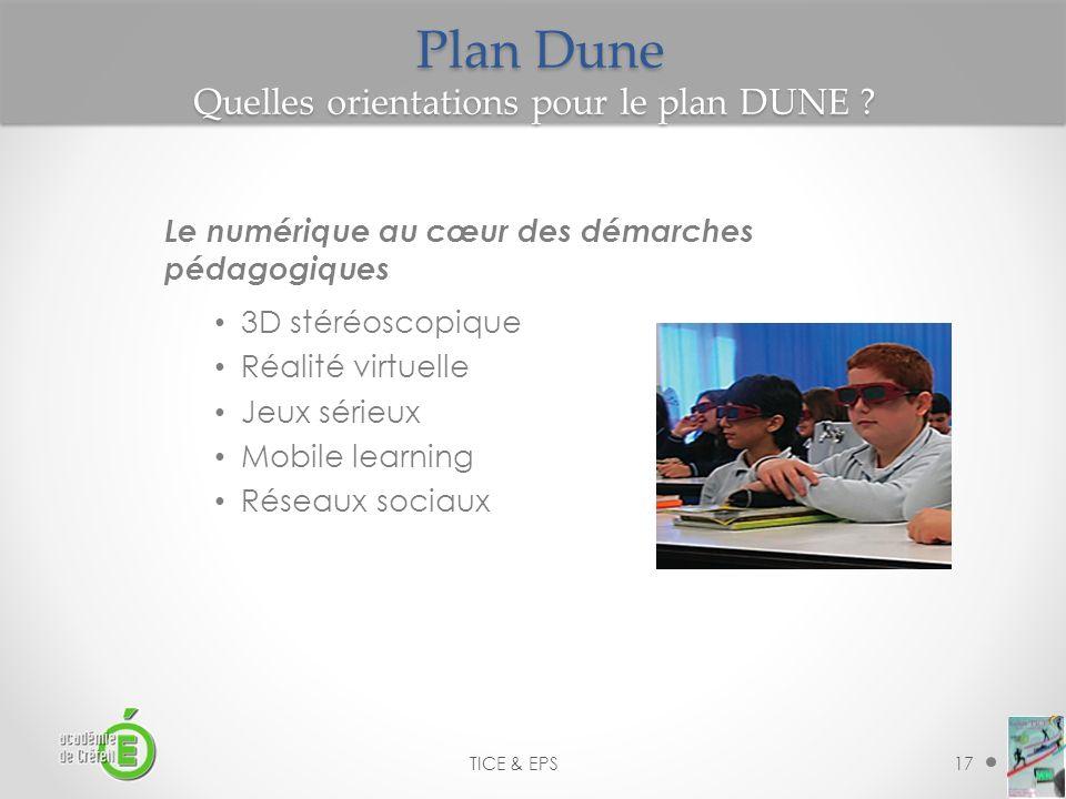 Plan Dune Quelles orientations pour le plan DUNE