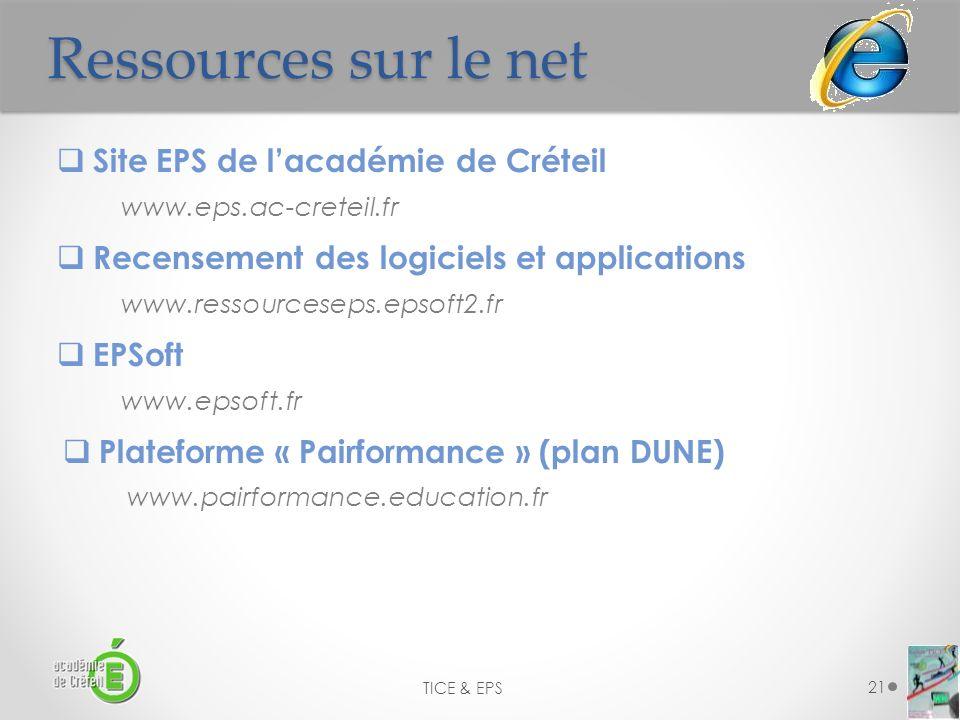 Ressources sur le net Site EPS de l'académie de Créteil