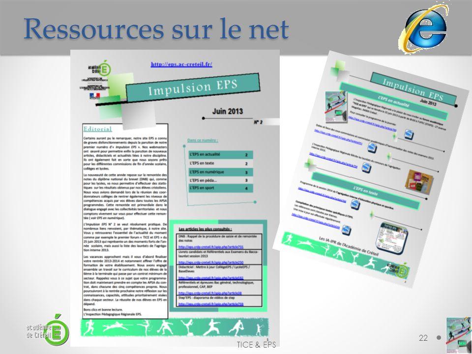 Ressources sur le net TICE & EPS