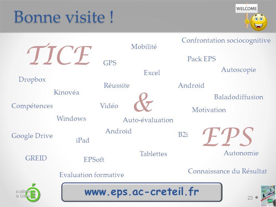 TICE & EPS Bonne visite ! www.eps.ac-creteil.fr