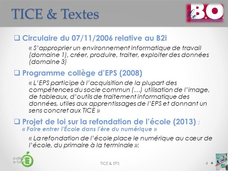 TICE & Textes Circulaire du 07/11/2006 relative au B2i