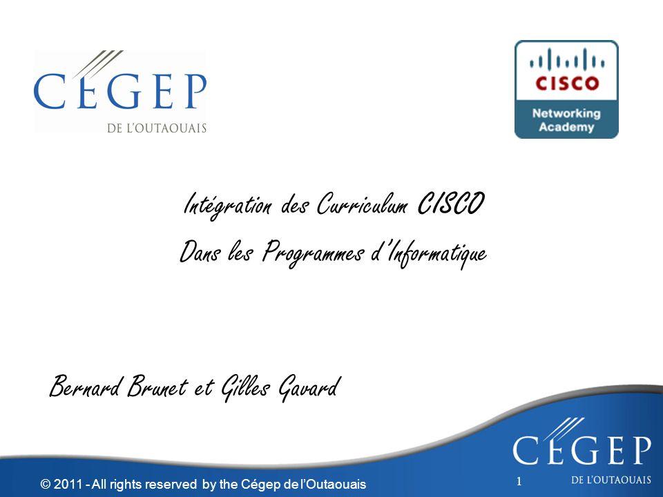 Intégration des Curriculum CISCO Dans les Programmes d'Informatique
