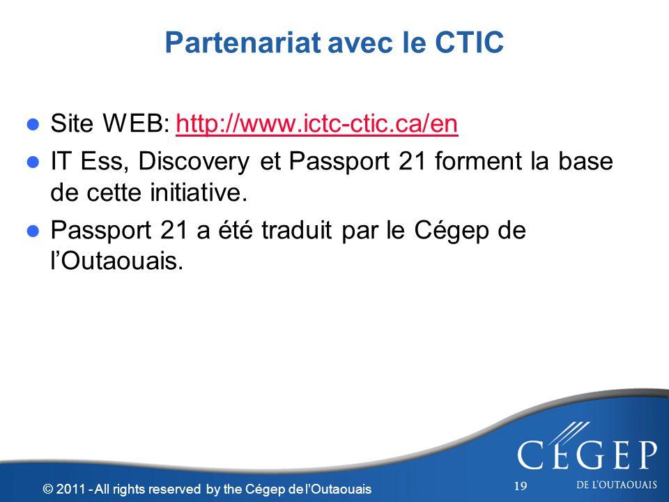 Partenariat avec le CTIC