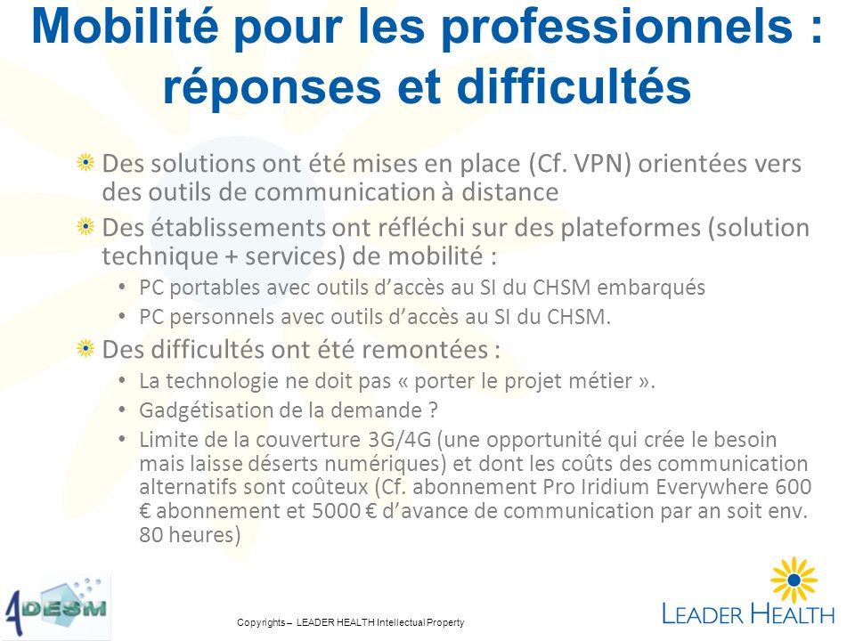 Mobilité pour les professionnels : réponses et difficultés