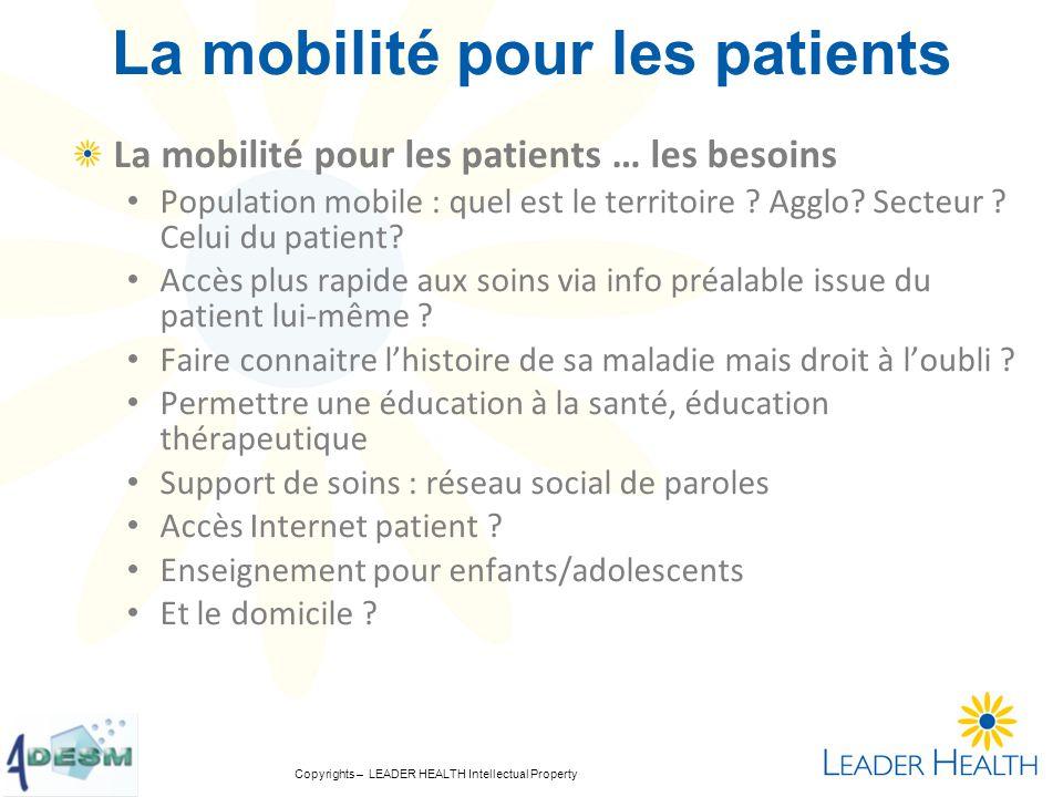 La mobilité pour les patients