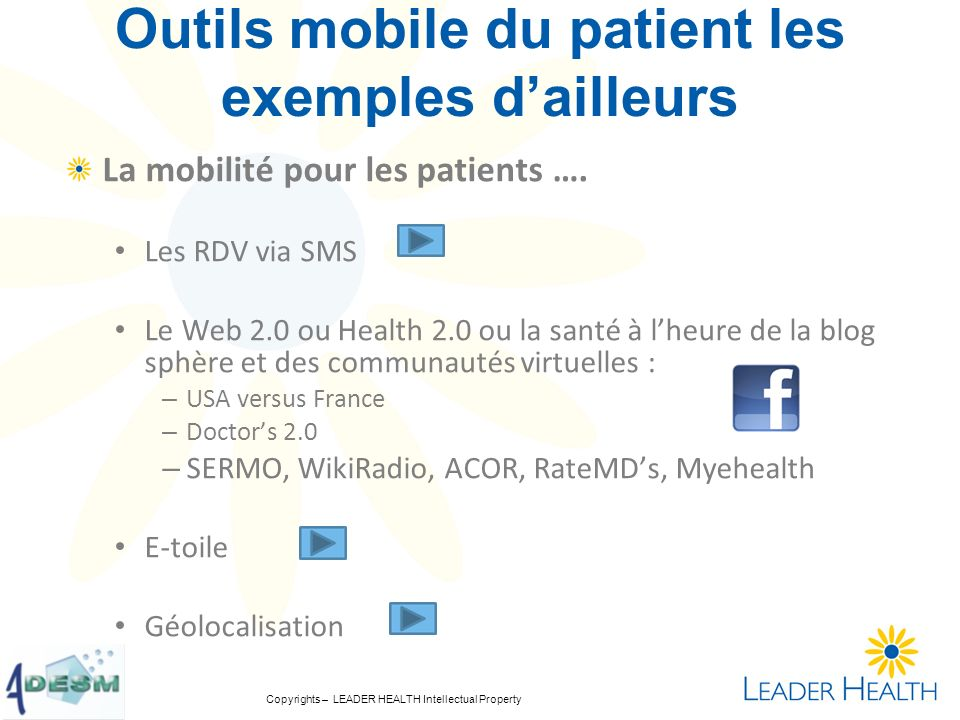 Outils mobile du patient les exemples d'ailleurs