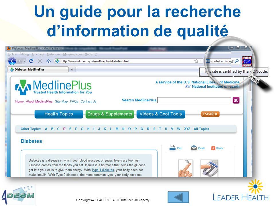 Un guide pour la recherche d'information de qualité