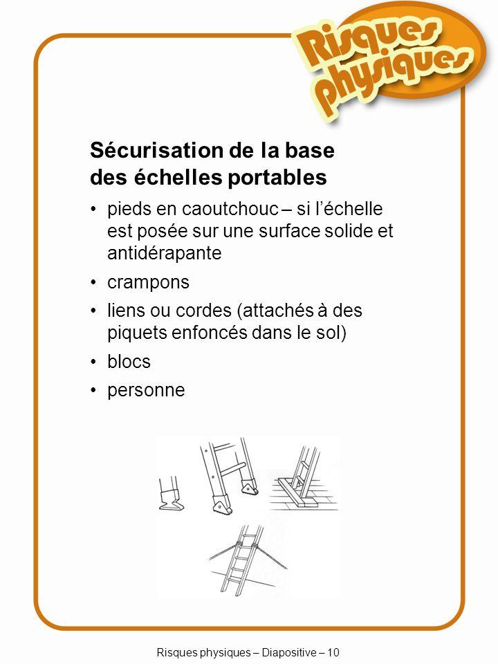 Risques physiques – Diapositive – 10