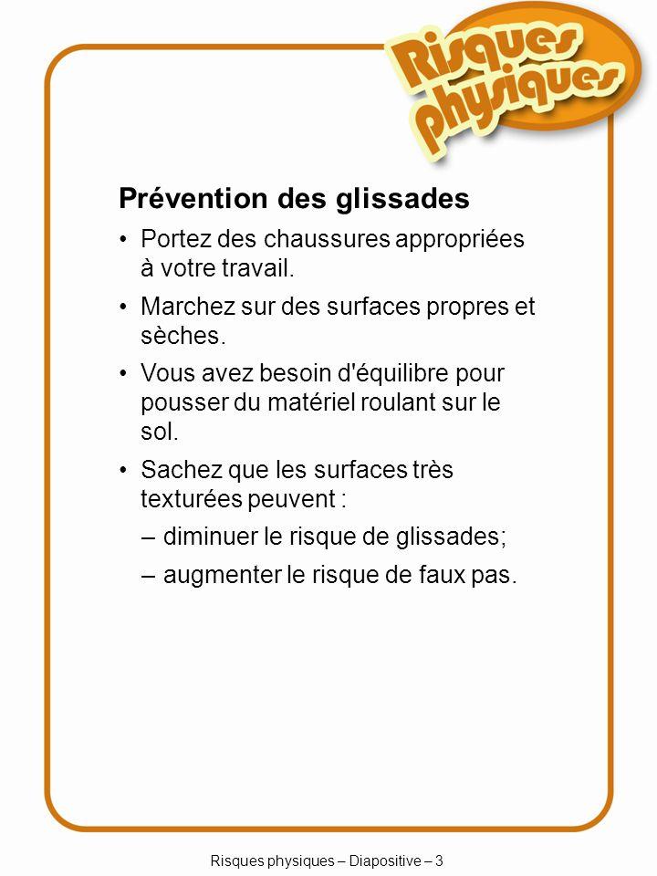 Risques physiques – Diapositive – 3