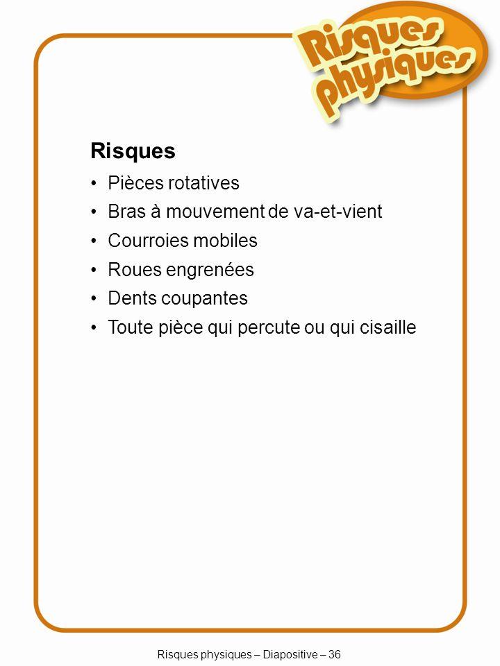 Risques physiques – Diapositive – 36