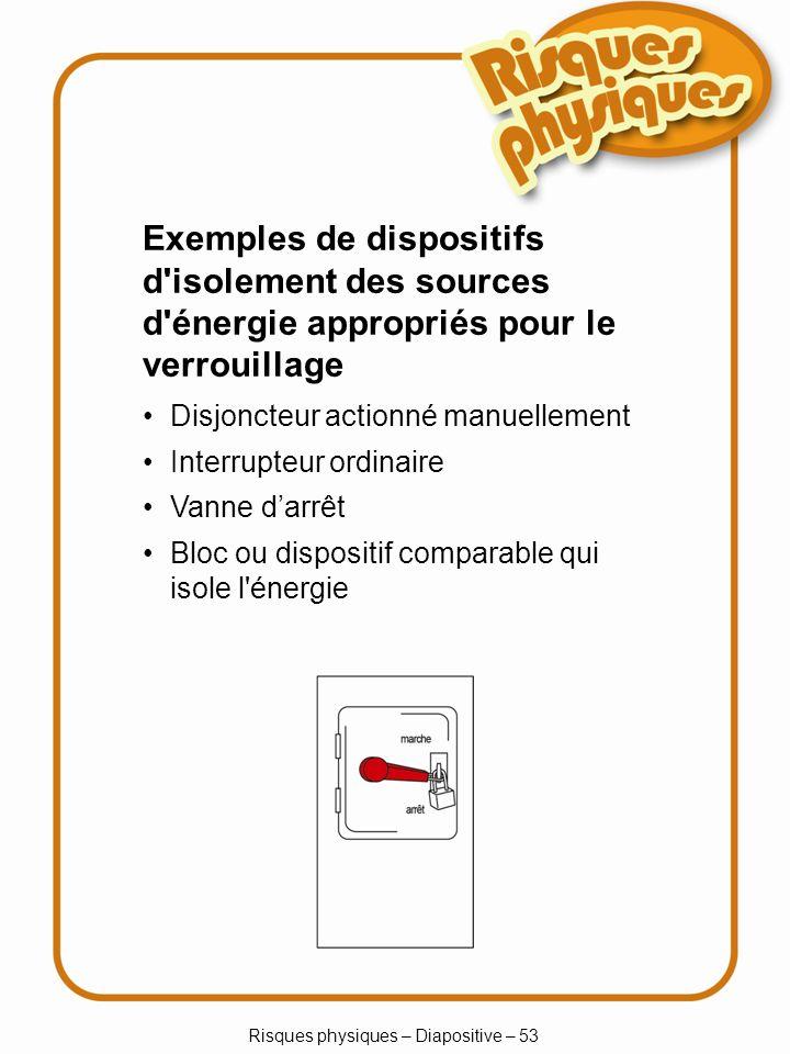 Risques physiques – Diapositive – 53