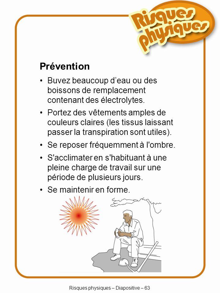 Risques physiques – Diapositive – 63
