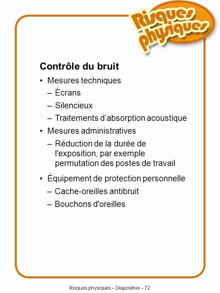 Risques physiques – Diapositive – 72