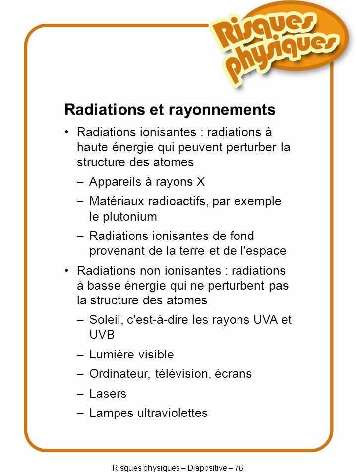 Risques physiques – Diapositive – 76