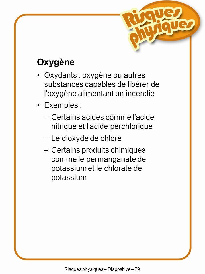 Risques physiques – Diapositive – 79
