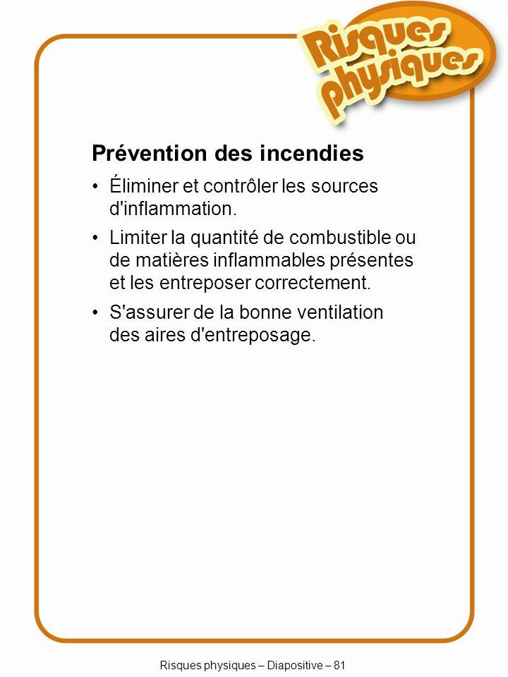 Risques physiques – Diapositive – 81