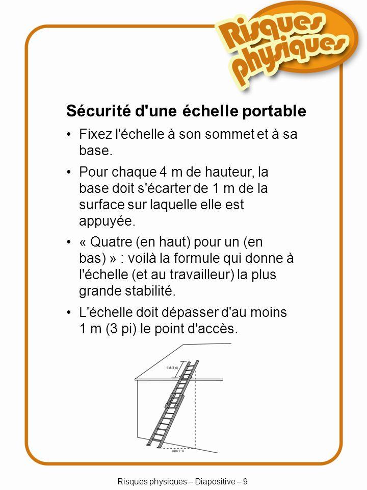 Risques physiques – Diapositive – 9