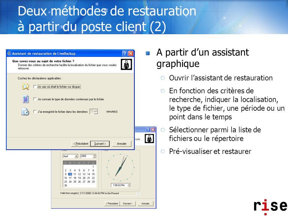 Deux méthodes de restauration à partir du poste client (2)