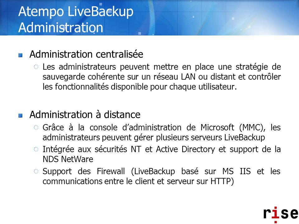 Atempo LiveBackup Administration