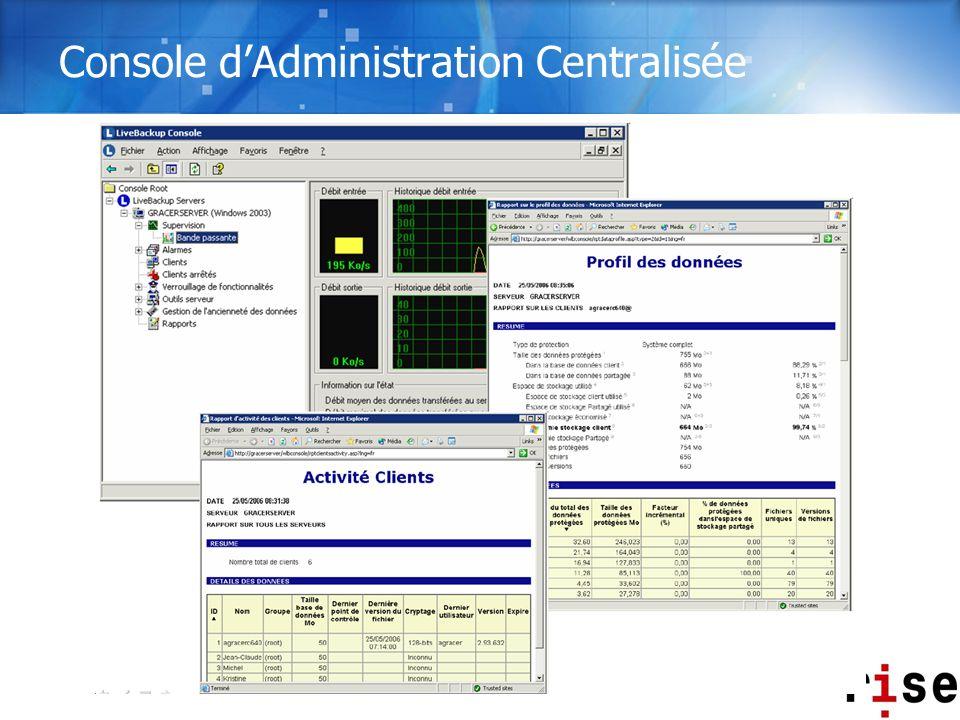 Console d'Administration Centralisée