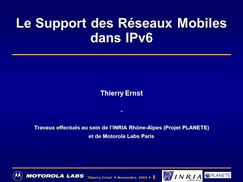 Le Support des Réseaux Mobiles dans IPv6
