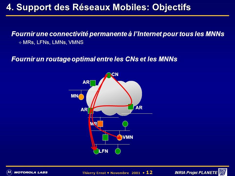 4. Support des Réseaux Mobiles: Objectifs
