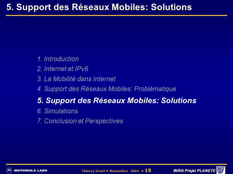 5. Support des Réseaux Mobiles: Solutions