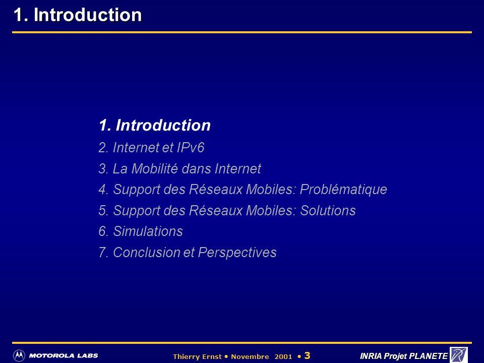 Motorola Labs Paris - INRIA Planete Grenoble