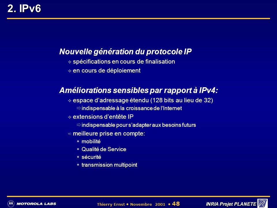2. IPv6 Nouvelle génération du protocole IP