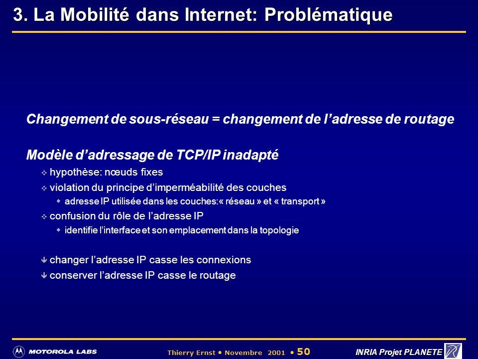 3. La Mobilité dans Internet: Problématique