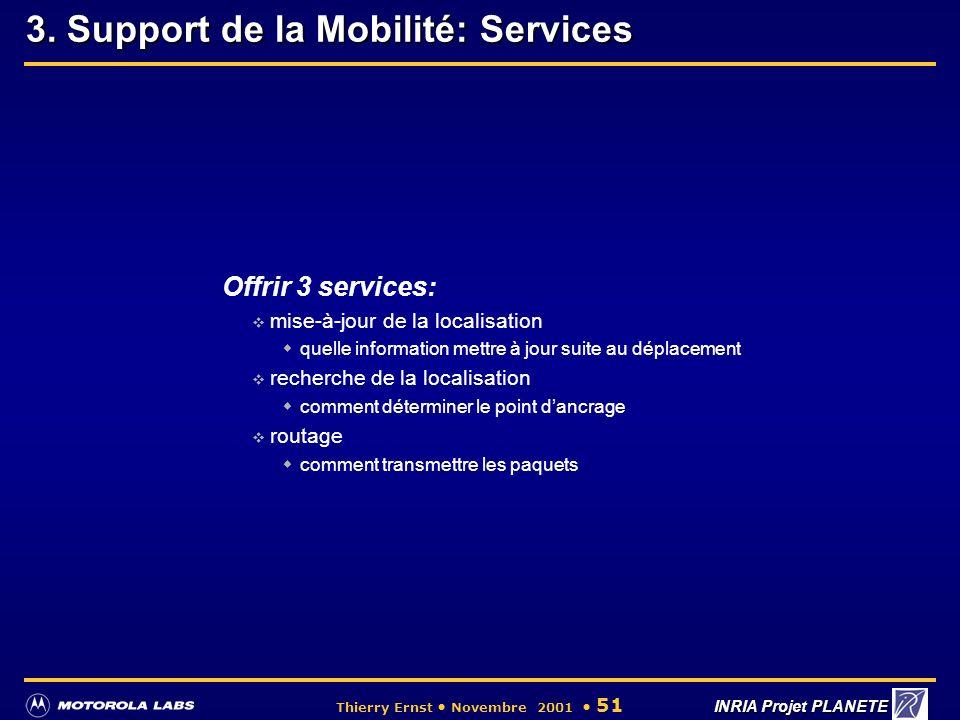 3. Support de la Mobilité: Services