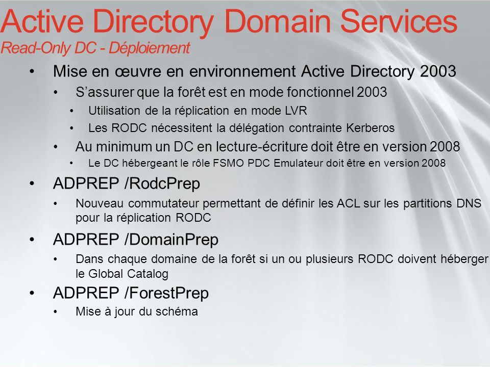 Active Directory Domain Services Read-Only DC - Déploiement