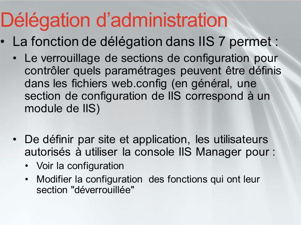 Délégation d'administration